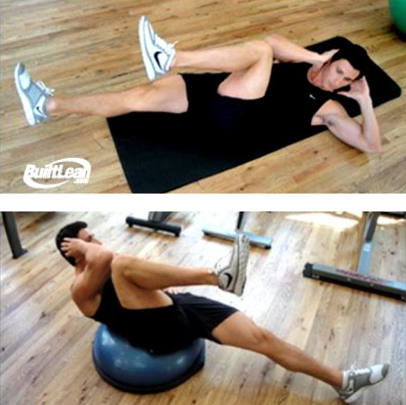 Bicycles and Bosu Ball Crunches