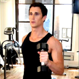 Pumping Arms with Dumbbells