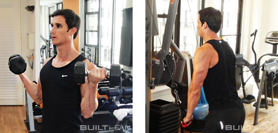 Biceps Curl and Triceps Pressdown