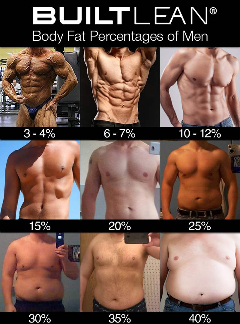 body fat percentage men Body Fat Percentage Pictures Of Men & Women