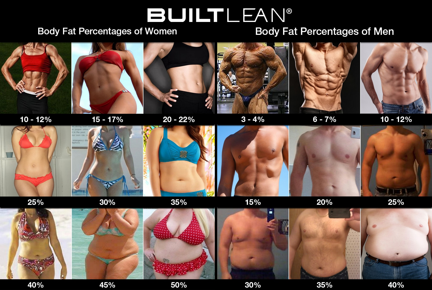 body fat percentage picture men women Body Fat Percentage Pictures Of Men & Women