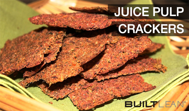 Slow Juicer Pulp Recipes : Juice Pulp Crackers with Chia Seeds & Chickpea Flour