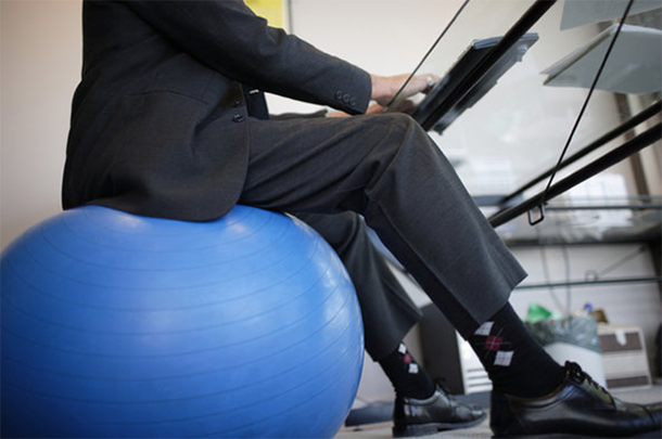 Chair Or Stability Ball What S Better To Sit On At Work