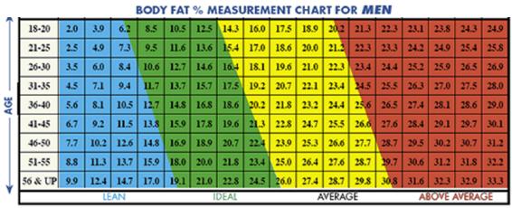 Ideal Body Fat Percentage Chart 2