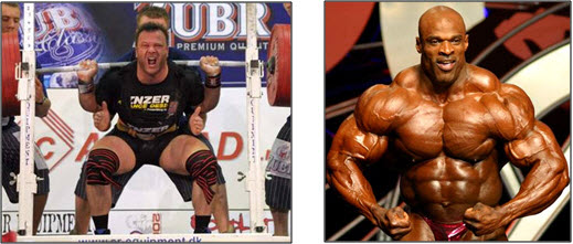 Bodybuilders vs. Powerlifters