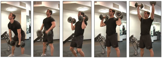 Dumbell Power Cleans & Push Presses
