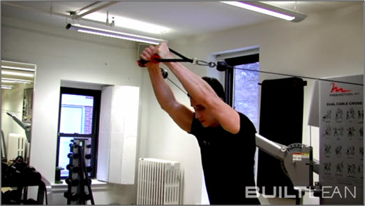 Cable Crossover Exercise High Low