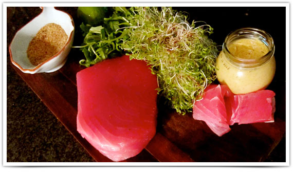 Ingredients: Seared Ahi Tuna Steak