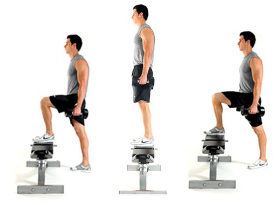 Leg Circuit Exercise #1: Step Ups