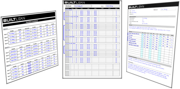 Free Workout Log Template ThatS Printable  Easy To Use  Builtlean