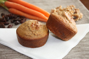 Carrot Cake Muffins Made Healthy!