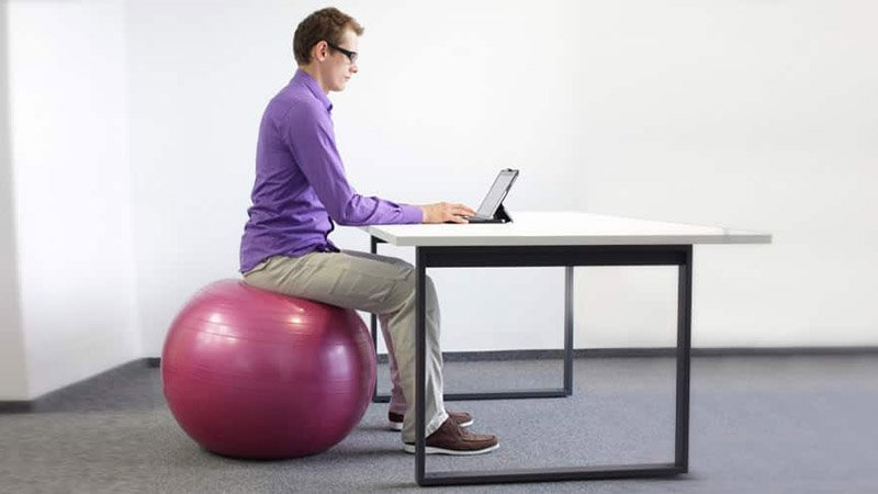 Sitting On An Exercise Ball The Benefits