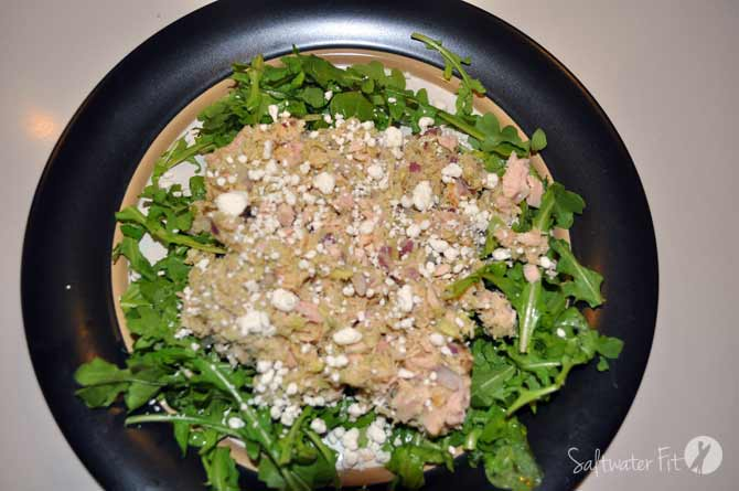 tuna-salad-arugula-goat-cheese