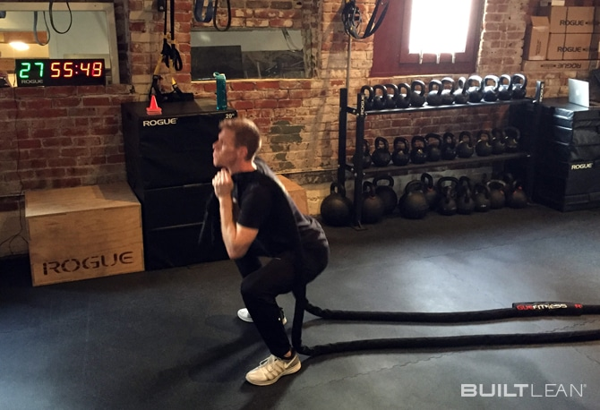 Battle-Rope-Squats