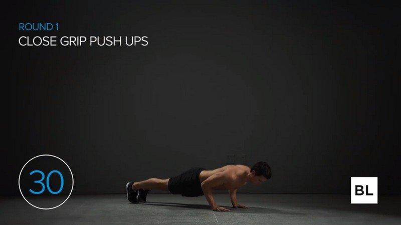 Close Grip Push Ups