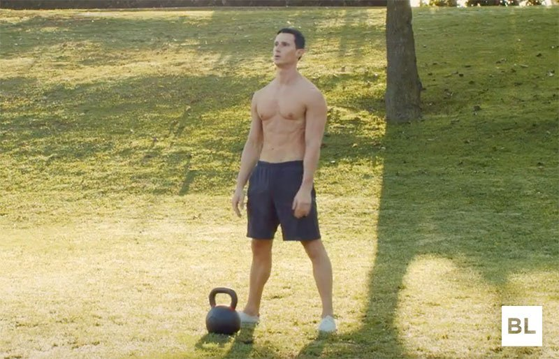 Stand In Front Kettlebell